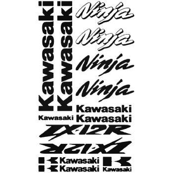 Kawasaki ZX-12R Ninja Stickers Car Motorbike Vinyl Decals